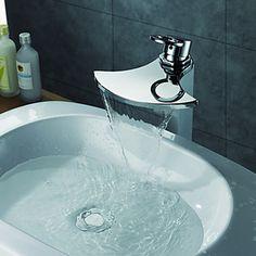 Chrome Finish Single Handle Waterfall Bathroom Sink Faucet – AUD $ 168.38