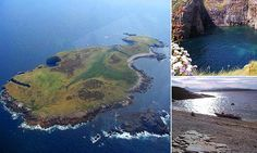 Inishdooney Island, off the coats of Ireland, boasts 94 acres of uninhabited land. There are no buildings on the island, which is only accessible by boat or helicopter when weather conditions are suitable.