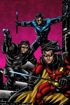 Nightwing, Jason Todd, and Robin