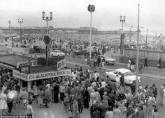 Jugs of tea for the beach, oysters and - of course Blackpool rock - was waiting for the crowds on the Golden Mile in the 1950s. Description from amharicmovies.com. I searched for this on bing.com/images