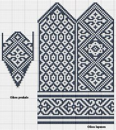 Glove knitting pattern: Free chart. I'd have to make some minor changes. I like…