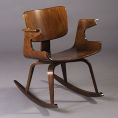 Anonymous; Bent Plywood Rocking Chair, c1950.