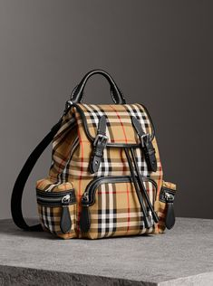Inspired by military archive bags, our timeless  Burberrybackpack is  updated in Vintage check cotton. Burberry United States 12d8ee58f4