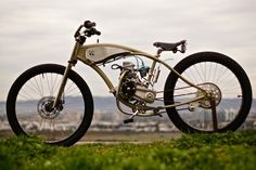 Motorised Bicycle by Wolf Creative Customs- Motorised Bicycle by Wolf Creative Customs – Silodrome - Cool Bicycles, Vintage Bicycles, Vintage Motorcycles, Custom Motorcycles, Custom Moped, Custom Bikes, Moto Bike, Motorcycle Bike, Gas Powered Bicycle