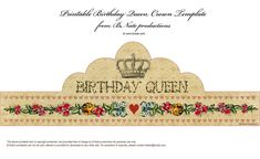 Lovely free printable ...every girl deserves to be a queen!!