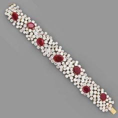 A RUBY AND DIAMOND BRACELET, BY CHANTECLER