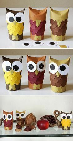 Diy Discover Toilet paper roll crafts diy for kids crafts for kids rolled paper Kids Crafts Owl Crafts Fall Crafts For Kids Toddler Crafts Diy For Kids Arts And Crafts Winter Craft Autumn Crafts Toilet Paper Roll Crafts Fall Crafts For Kids, Toddler Crafts, Diy For Kids, Kids Crafts, Craft Projects, Diy And Crafts, Arts And Crafts, Winter Craft, Autumn Crafts