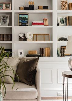 Designing a Timeless Home is No Easy Feat, but This Home Nailed it | lark & linen Vintage Interior Design, Interior Design Photos, Interior Styling, Styling Bookshelves, Bookcases, Home Office Space, Shop Interiors, Beautiful Interiors, Decoration