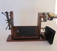 Samsung Galaxy S3 S4 S5 Dock Stand with Mens Valet Men Watch Holder- Men Watch Stand - Watch Display Iphone Dock - Ring Holder on Etsy, $35.00