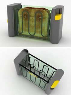 We have seen a Transparent Toaster concept. This is another Dyson Toaster concept by David Chacon.
