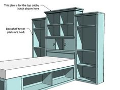 Ana White | Build a Cubby Hutch Plans for the Storage Headboard | Free and Easy DIY Project and Furniture Plans