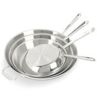 "All-Clad Stainless Steel Skillets 8"", 10"", 12"", 14"""