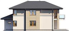 Projekt domu Karat 157,99 m2 - koszt budowy - EXTRADOM Modern Family House, Modern House Design, Home Fashion, Bungalow, Gazebo, House Plans, Construction, Villa, Exterior