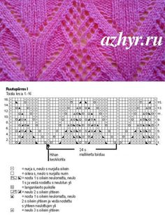 No. 153 the Large openwork pattern for knitting by spokes | OPENWORK - schemes of patterns // Оксана Булавкина