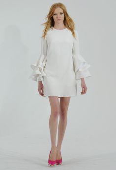 Short Ruffle-Sleeve Wedding Dress | Houghton Bride Fall/Winter 2015 | Blog.theknot.com