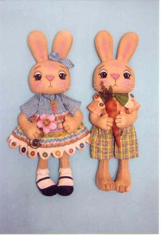 Happy Heart Cute as a Button The Pattern Hutch stuffed cloth doll craft pattern bunny rabbit spring