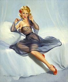 Very cute hair! #pinup #girl #vintage #art #lingerie
