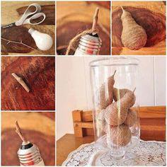 Lâmpadas recicladas! Uma ideia muito boa e linda.