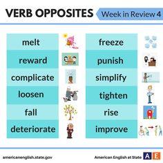Verb Opposites: Week in Review 4