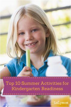 School Readiness Activities - Top 10 Summer Activities for Kindergarten Readiness on Lalymom.com