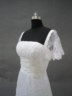 lace wedding dress cap sleeve lace wedding dress  lace by okbridal, $322.00 would be pretty to.just have a cover.up with sleeves like.this and.then removable.did.recepfion