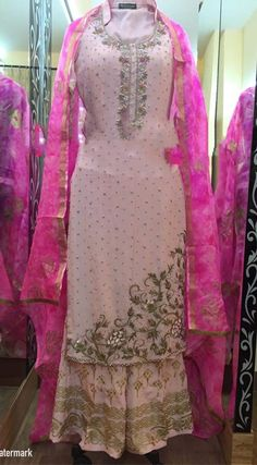 Phenomenal Light Pink Pure Creap Suit With Hand Worked With Dupatta