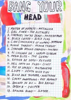 rookiemag: Friday Playlist: Bang Your Head Heavy songs to power through a rough task or hard day.