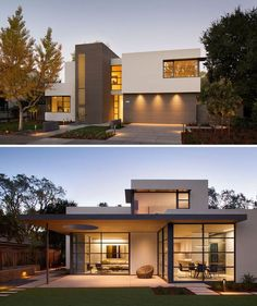This lantern inspired house design lights up a California neighborhood : Feldman Architecture have sent us photos of their latest project, a modern residence named the Lantern House. Modern Architecture House, Facade Architecture, Modern House Facades, Residential Architecture, Modern House Plans, Modern House Design, Flat House Design, Living Haus, Living Room