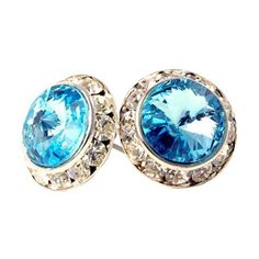Aqua Crystal 15mm Stud Earrings Made with Swarovski Elements PammyJ Earrings. Save 38 Off!. $17.99. BRAND NEW. GORGEOUS FOR GIFTS. NICKEL AND LEAD COMPLIANT. BEAUTIFUL CLASSY STYLE. COMES IN FOIL GIFT BOX