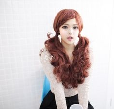 Beautiful and cute pigtail style for Asian women