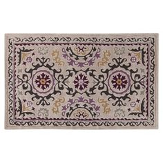 Check out this item at One Kings Lane! Rawlins Rug, Oatmeal/Multi