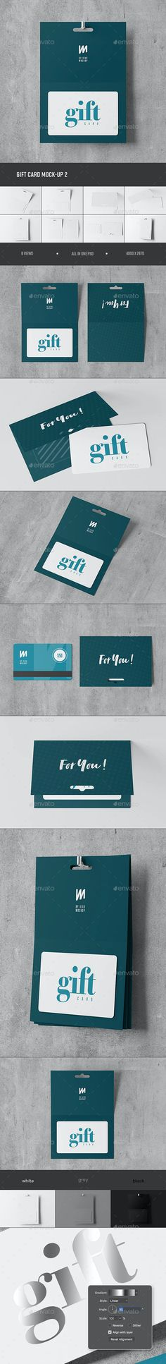 Gift Card Mock-up 2 by VivoMockups | GraphicRiver