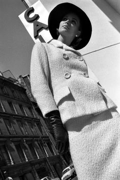 Fashion photo by Brian Duffy for French ELLE, August 1962