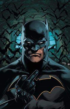 Batman gives you the finger!