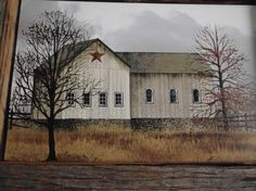 Primitive Old Country Barn with a Reclaimed Barn by phyllissexton on etsy.