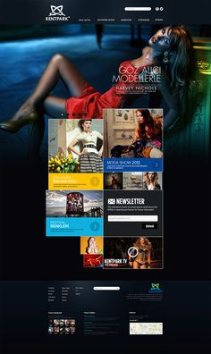 Fashion Web Design by Enes Danış, via Behance