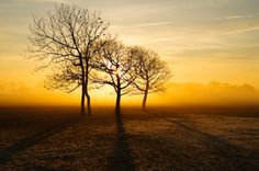 """Winter evening near garstang lancashire"" by Jon Sparks"