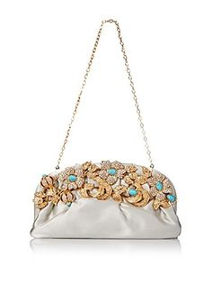 Valentino Women's Evening Clutch, Fume/Turquoise/Oro Vintage
