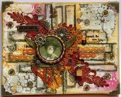 Mixed Media Art canvas using Prima Art Basics and Prima Art Ingredients.