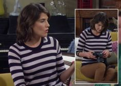 Robin's navy striped top with watch detail worn with tan brown jeans on How I Met Your Mother Camel Jeans, Brown Jeans, Robin Scherbatsky, What Should I Wear Today, How I Met Your Mother, Navy Stripes, Stripe Top, Open Back Dresses, I Meet You