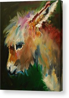 Animal Art~ Strikingly Coloured Little Donkey ~ Painting by Diane Whitehead - Burro Donkey ~Fine Art Prints And Posters For Sale Guache, Art Et Illustration, Illustrations, Art Graphique, Equine Art, Horse Art, Painting Inspiration, Painting & Drawing, Fine Art America