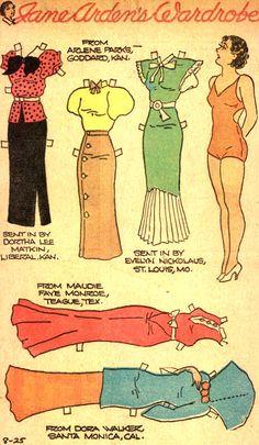 Jane Arden's Wardrobe 8-25-35