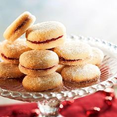 Really good cookies. Filled Cookies, Sweet Cookies, Baking Recipes, Cake Recipes, Finnish Recipes, Scandinavian Food, Sweet Pastries, Sweet And Salty, Bread Baking