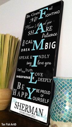 Love this sign.. Personalize with your Family Name.