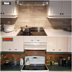 New backslash in the kitchen (before and after)
