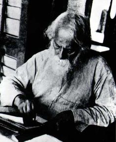 "Tagore painting // ""The burden of the self is lightened with I laugh at myself"" – Tagore"