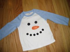 Infant/Toddler Boys Girls Snowman Face Holiday Shirt