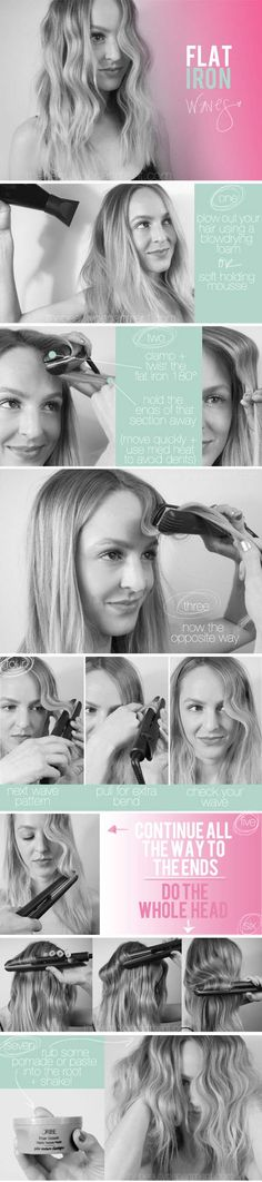 Hair Straightening Tutorials -Tame Your Curly Hair - Flat Iron Waves -Looking For The Best Hair Straightening Tutorials And The Best Straightening Tips On The Web? Whether You Are Looking To Use A Flat Iron, Or Trying To Straighten Your Hair Without Heat, Where There's A Will, There's A Way, And There Are Products To Help Your Curls. These Step By Step Hair Straightening Hacks And Tips Will Make It So You Can DIY Your Hair With Some Simple Techniques, A Brush, And Your Creativity. We Cover…