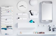 There is an IKEA hack for everything! In this article we put together a list of some cool IKEA hacks for small spaces and all living areas Wall File Organizer, Wand Organizer, Wall Organization, Ikea Storage, Office Storage, Small Storage, Entryway Storage, Storage Hacks, Storage Solutions