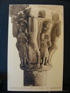 POSTAL BARCELONA MONASTEROI DE SANT CUGAT DEL VALLES CAPITEL BIBLICH SIN CIRCULAR